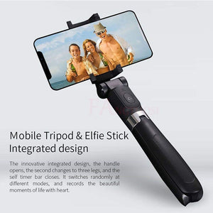 Selfie Stick Tripod for iPhone Android Phone with Bluetooth Remote-Tripod Selfie Stick-Black-L02-COOL FUN TECH