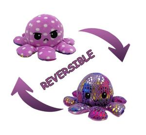 Cute Flip-Mood Octopus Plush Toy-Flip Mood Octopus Plush Toy-Pink dots-10x20cm-COOL FUN TECH