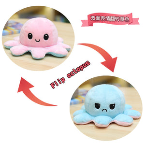 Cute Flip-Mood Octopus Plush Toy-Flip Mood Octopus Plush Toy-Pink light blue-40cm-COOL FUN TECH