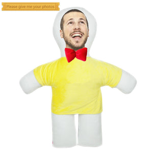 Custom humanoid pillow diy photo doll-Custom Human Shape Pillow-Yellow-45cm-COOL FUN TECH