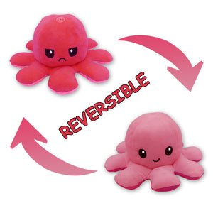 Cute Flip-Mood Octopus Plush Toy-Flip Mood Octopus Plush Toy-Pink rose-10x20cm-COOL FUN TECH