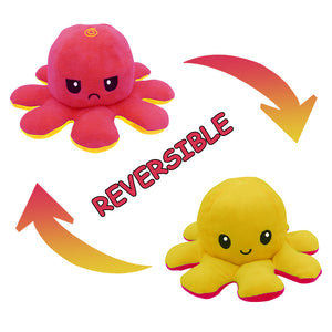 Cute Flip-Mood Octopus Plush Toy-Flip Mood Octopus Plush Toy-Yellow rose-10x20cm-COOL FUN TECH