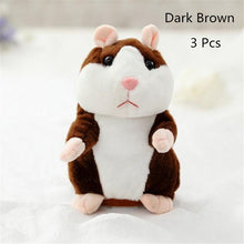 Load image into Gallery viewer, Talking Hamster Plush Toys-Talking Hamster Toy-Dark brown 15cm-3-COOL FUN TECH