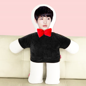 Custom humanoid pillow diy photo doll-Custom Human Shape Pillow-Black-45cm-COOL FUN TECH
