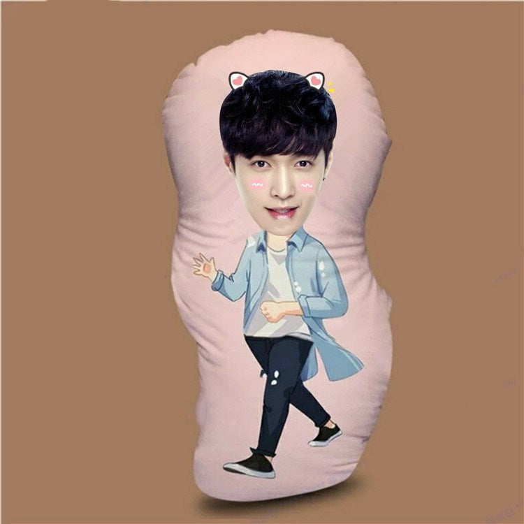 Custom Photo Human-Shaped Pillow-customized human photo pillow-Photo Color-35cm-COOL FUN TECH