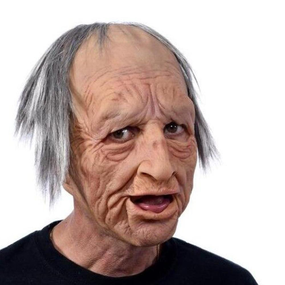 Halloween Costumes Creepy Old Man Woman Skin Mask-Special Effect Costumes-Grandpa-COOL FUN TECH