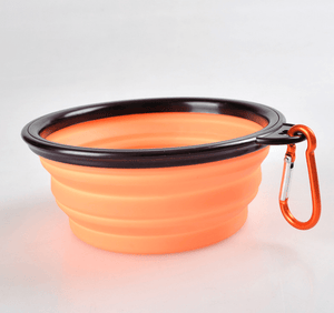 Foldable Silicone Pet Dog Feeding Bowl-Foldable Pet Dog Bowl-Orange Large-COOL FUN TECH