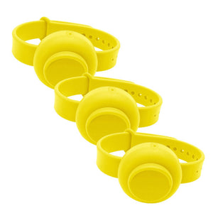 Unisex Silicone Hand Gel Sanitizer Dispenser Wristband for Adults Children-Disinfectant Wristband-Yellow-Q1pcs-COOL FUN TECH