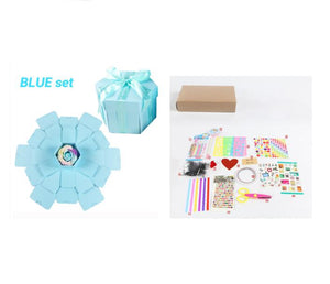 D.I.Y Explosion Photo Story GIFT Box-Surprise DIY Gift Box-Blue assemble27 tools X-COOL FUN TECH
