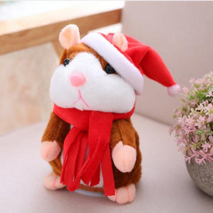 Talking Hamster Plush Toys-Talking Hamster Toy-Christmas Light Brown15cm-1-COOL FUN TECH