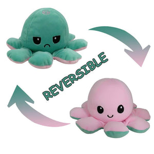 Cute Flip-Mood Octopus Plush Toy-Flip Mood Octopus Plush Toy-Green powder-10x20cm-COOL FUN TECH