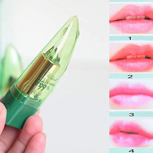 4 Pc Natural Aloe Vera Magical Color Changing Lipstick Long Lasting Moisturizing Lips Balm-Lipstick-4PCS-COOL FUN TECH