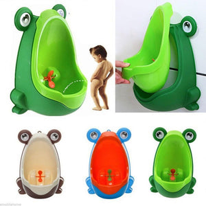 Cute Frog Toilet Potty Training Set For Boys-Baby Potty Toilet-Yellow-COOL FUN TECH
