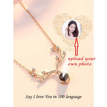 Load image into Gallery viewer, Personalized Necklace with Microscopic Carvings (i love u in 100 languages)-Necklace-Style4-Copper-COOL FUN TECH