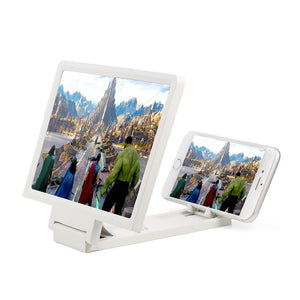 Foldable iPhone Android Phone Holder with HD Screen Magnifier-Phone Screen Magnifier-black-COOL FUN TECH