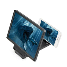 Load image into Gallery viewer, Foldable iPhone Android Phone Holder with HD Screen Magnifier-Phone Screen Magnifier-black-COOL FUN TECH