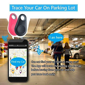Smart Anti-lost Bluetooth Phone Tracker Key Pet Wallet Finder Anti-Theft Remote Shutter-Smart Bluetooth Tracker-2Pc black-COOL FUN TECH