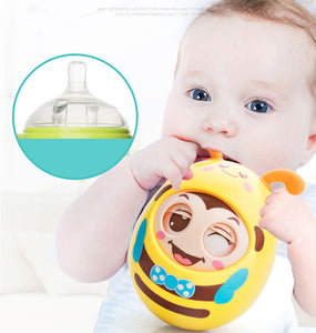 Blinking Tumbler Baby Teether Toy-Blue-COOL FUN TECH