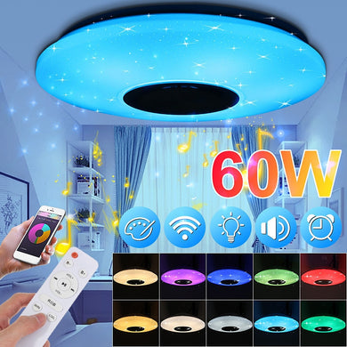 APP Control LED Ceiling Lights with Bluetooth Speaker-LED Lighting-48W Lamp NO Remote-United States-COOL FUN TECH