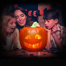 Load image into Gallery viewer, Halloween Talking Singing Animated Pumpkin Funny Toy with Built-In Electric Projector Lamp & Speaker-talking Pumpkin-Orange-China-COOL FUN TECH
