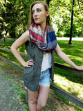 Patchwork Plaid light weight Scarf