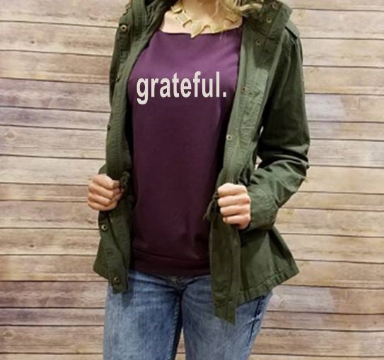Thankful and Grateful Long Sleeve Shirts