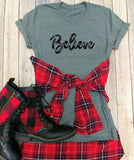 Vintage Holiday Believe T-Shirt