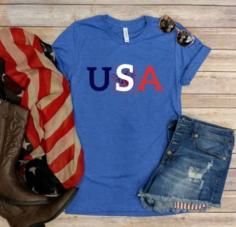 USA! 4th of July Tee