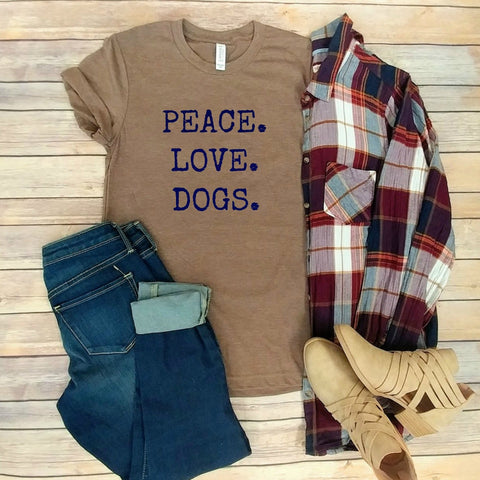 Peace. Love. Dogs.