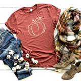 Fall Swirly  Pumpkin Tee!