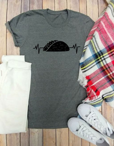 Taco Love Heart Beat Tees