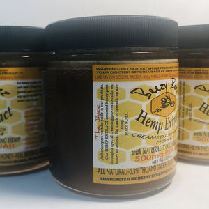 6oz CBD Cinnamon Creamed Honey (500mg of Full Spectrum CBD)
