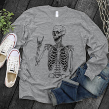 Load image into Gallery viewer, Rocker Skeleton Long Sleeve Tee