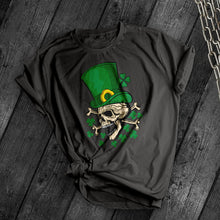 Load image into Gallery viewer, St. Patrick's Skull & Crossbones Tee