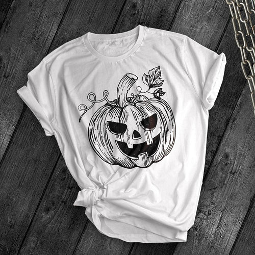 Carved Pumpkin Tee - Dark Tees