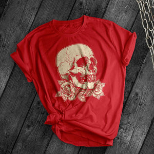 Cracked skull Tee - Dark Tees