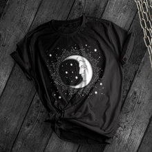 Load image into Gallery viewer, Crescent Moon Tee - Dark Tees