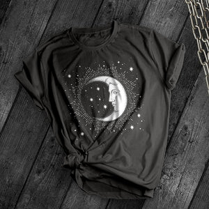 Crescent Moon Tee - Dark Tees
