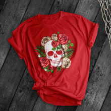 Load image into Gallery viewer, New Floral Skull 02 Tee - Dark Tees