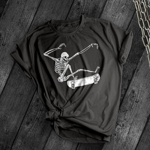 Skeleton Kick Flip Tee - Dark Tees