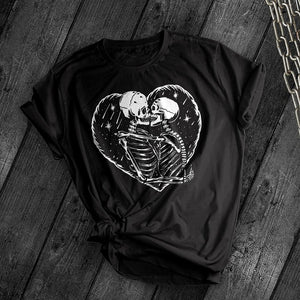 Skeleton Love Tee - Dark Tees
