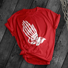 Load image into Gallery viewer, Skeleton Prayer Tee - Dark Tees
