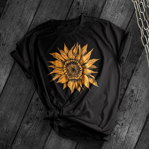 Sunflower Tee - Dark Tees