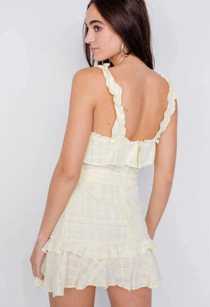 Lemonade Cotton Mini Dress