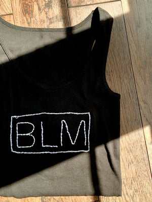 Hand-Embroidered BLM Tank/Tee