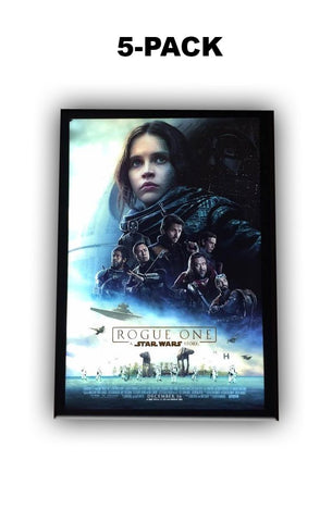 1) 5-Pack 27x40 Custom Premium LED Light Box Movie Poster Display Frames