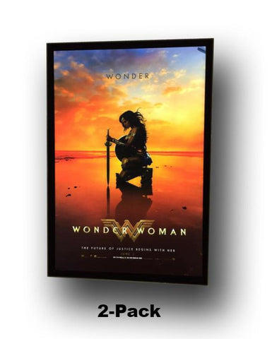 2)  2-Pack 27x40 Custom Premium LED Light Box Movie Poster Display Frames