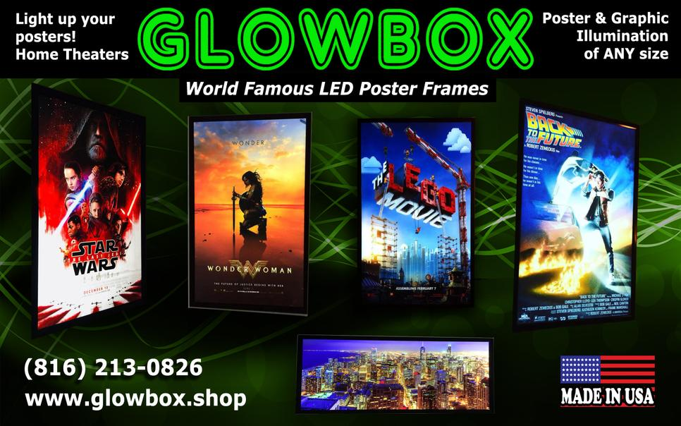 GLOWBOX - Light up your favorite posters now! USA LED Light