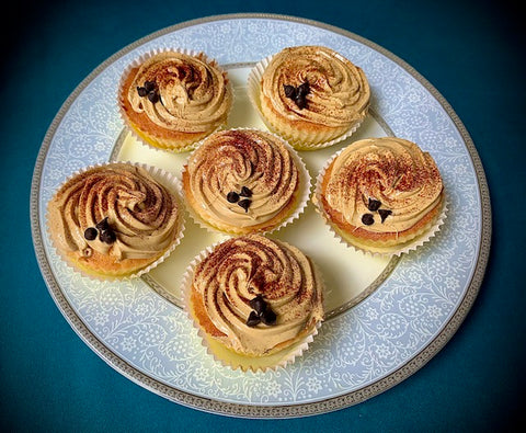 Coffee Frosted Vanilla Cupcakes