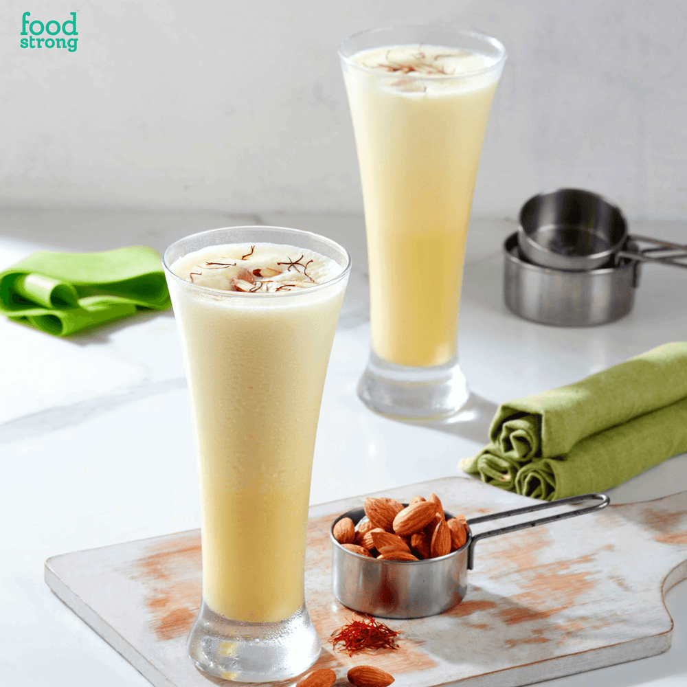 Load image into Gallery viewer, foodstrong shape shake kesar badam lite made with antibiotic free grassfed whey shake